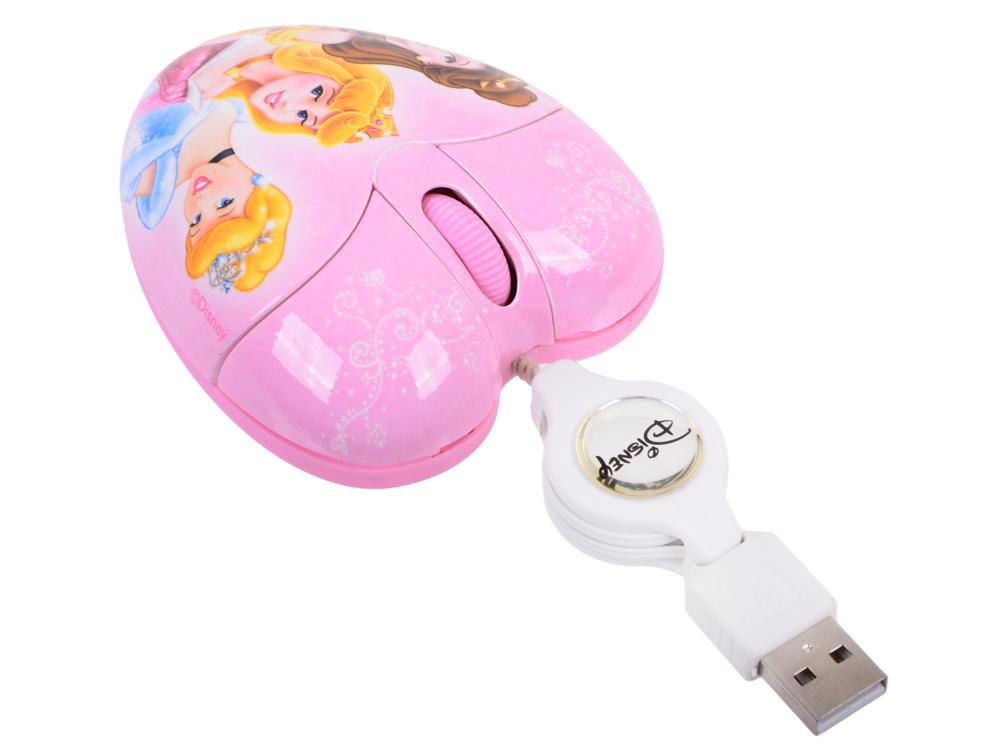 Мышь оптическая мини Cirkuit Planet DSY-MM212 Princess проводная USB 2.0 1000 dpi 2 кнопки+скролл со скручивающимся кабелем
