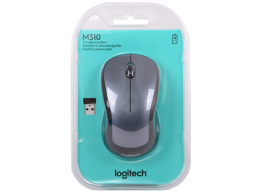 все цены на  Мышь (910-003986) Logitech Wireless Mouse M310 Silver  онлайн