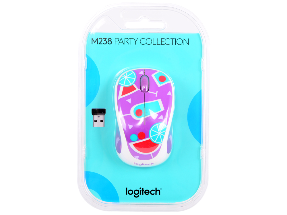 Мышь (910-004784) Logitech Wireless Mouse M238 Cocktail