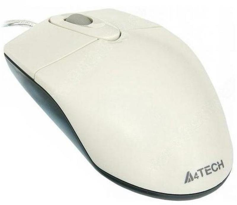 Картинка для Мышь проводная A4TECH OP-720 белый USB