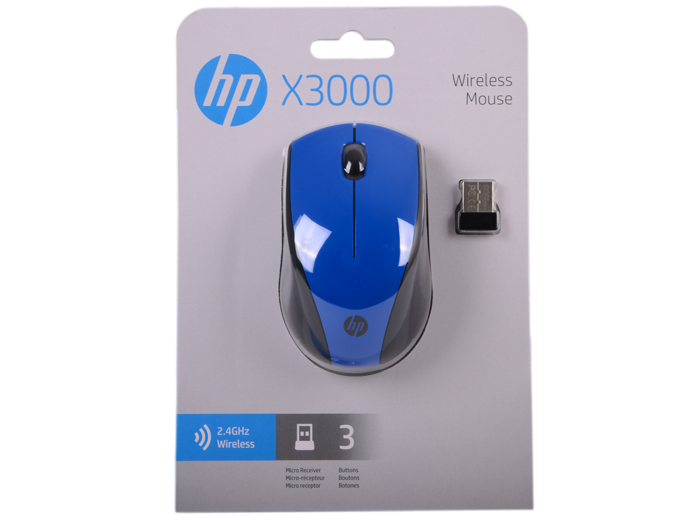 Картинка для Мышь HP Wireless Mouse X3000 Cobalt Blue (N4G63AA#ABB)