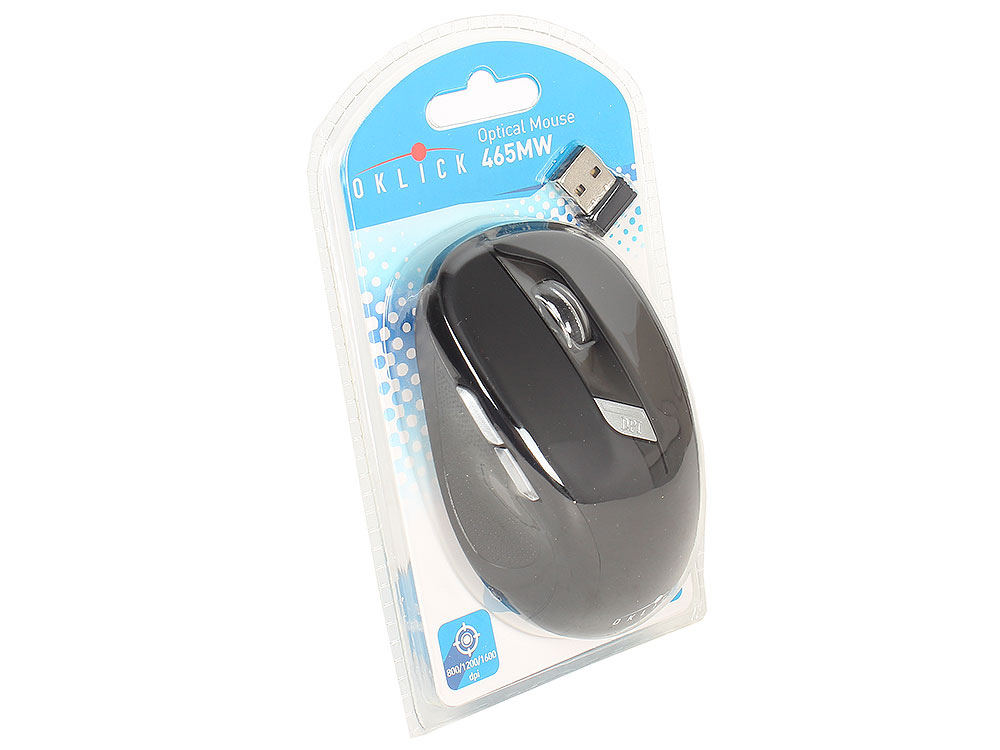 Мышь Oklick 465MW black optical (1600dpi) cordless USB (5but) oklick 795g black мышь игровая