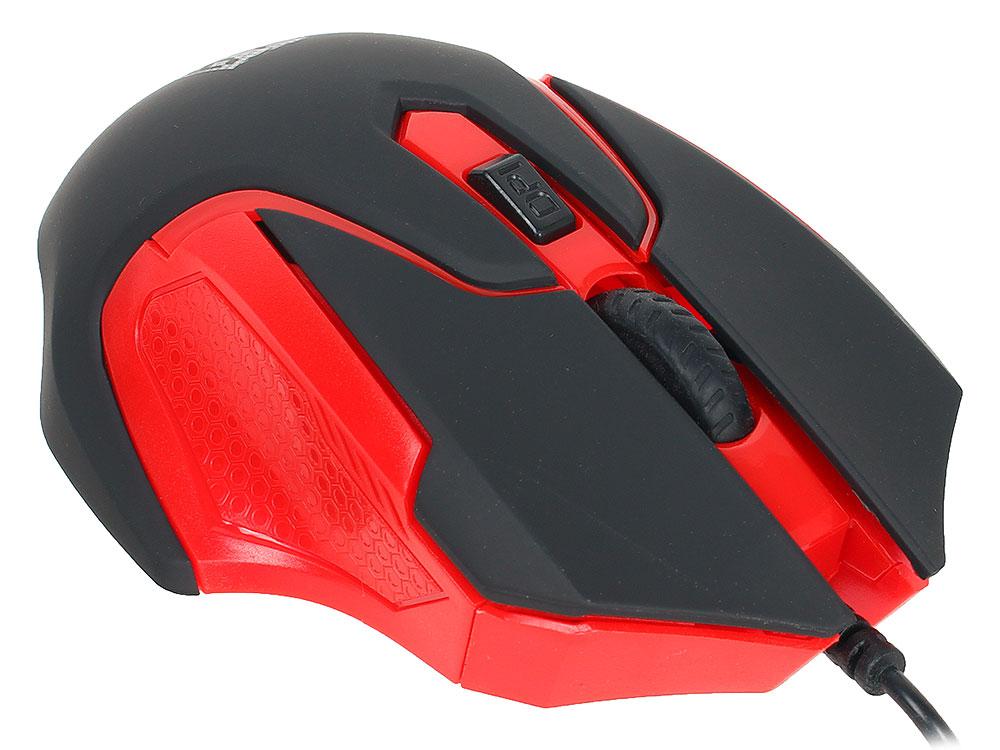 Проводная мышь Jet.A Comfort OM-U57 чёрно-красная (1000/1600dpi, 3 кнопки, USB)