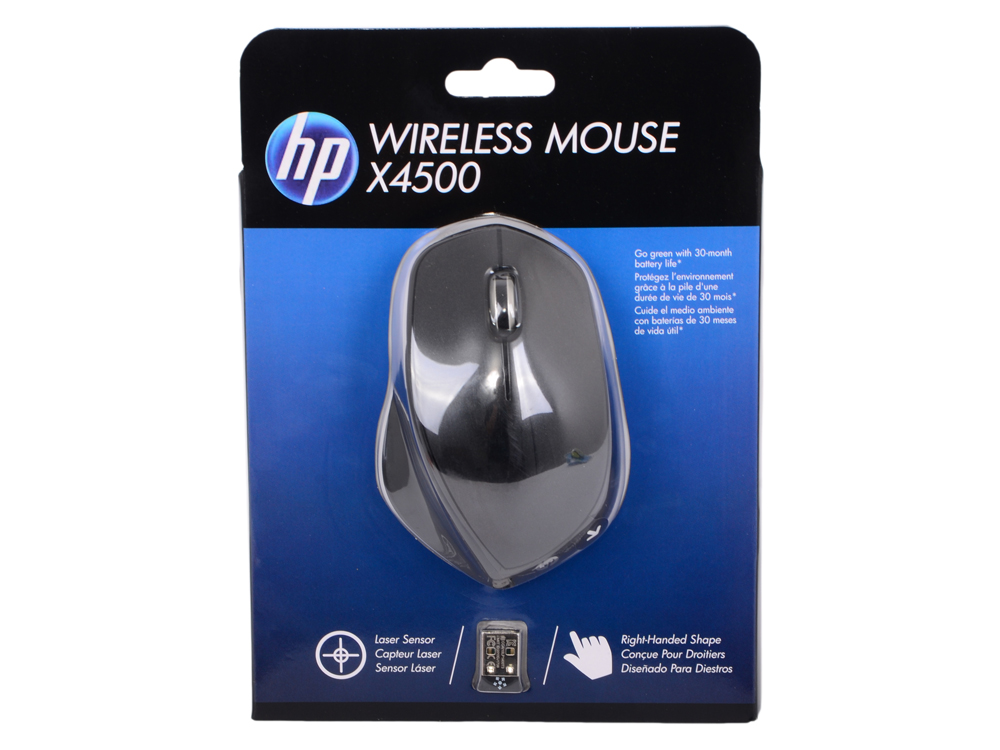 Мышь HP X4500 Wireless Mouse black (H2W26AA#ABB) мышь hp x9000 omen mouse j6n88aa