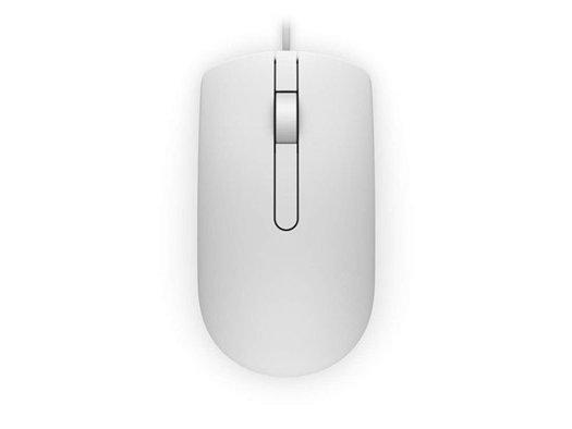 Мышь Dell MS116 белая (570-AAIP)