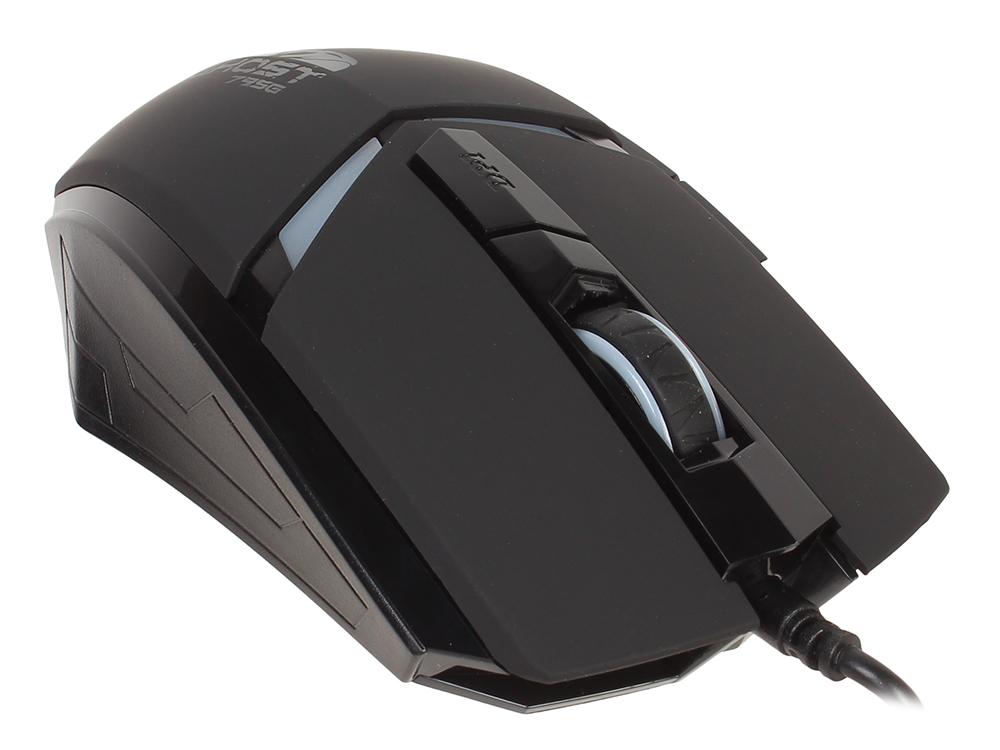 Мышь Oklick 795G черный оптическая (2400dpi) USB игровая (5but) игровая мышь oklick 865g snake black yellow