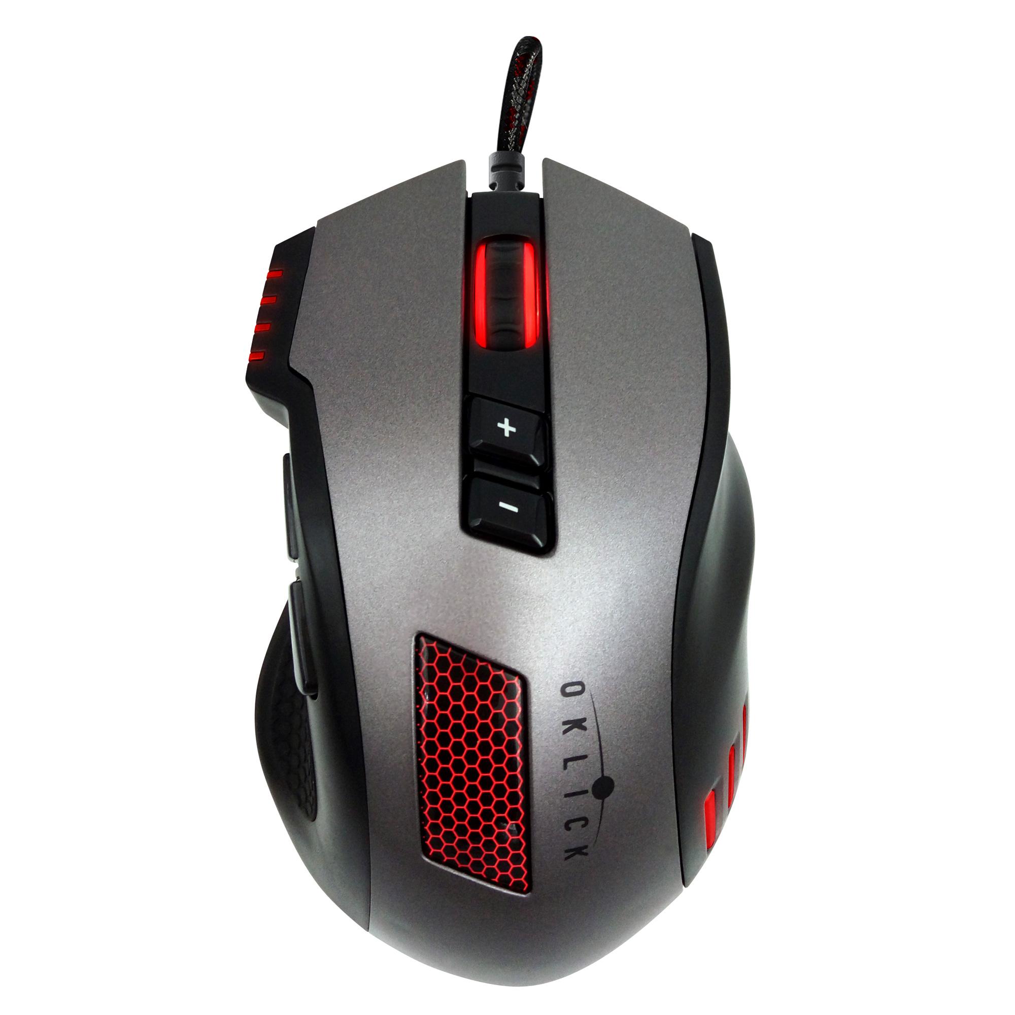 Мышь Oklick 805G V2 черный/серый оптическая (3200dpi) USB игровая (8but)