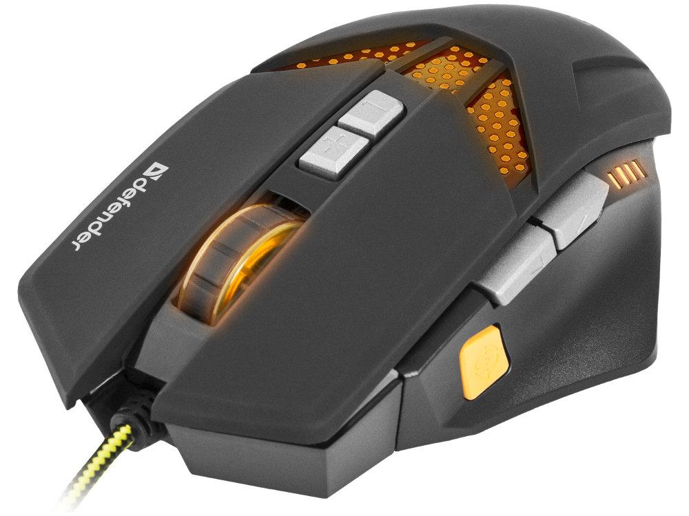 Мышь игровая Defender Warhead GM-1780 оптика,8 кнопок,1000-2500 dpi игровая мышь defender forced gm 020l black