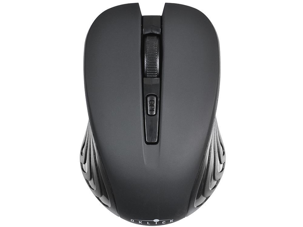 Мышь Oklick 545MW черный/черный оптическая (1600dpi) беспроводная USB (4but)