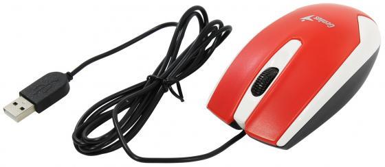 Мышь проводная Genius DX-100X Бело-Красный USB мышь проводная genius dx 100x чёрный usb