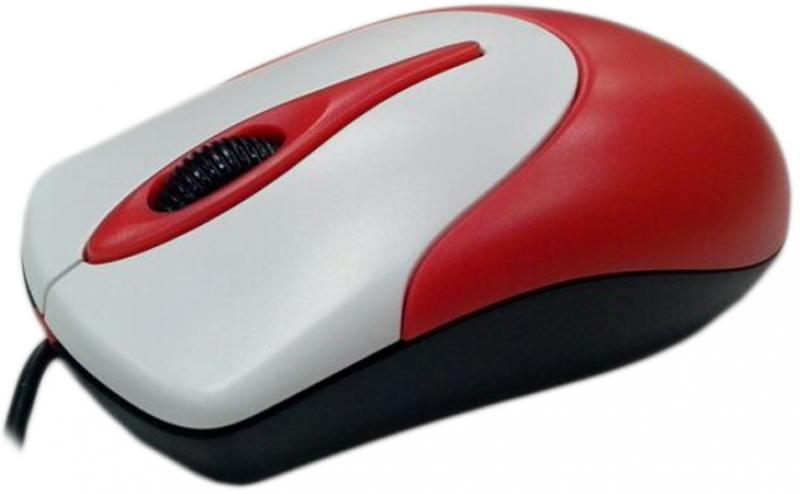 Мышь проводная Genius NetScroll 100 V2 красный USB