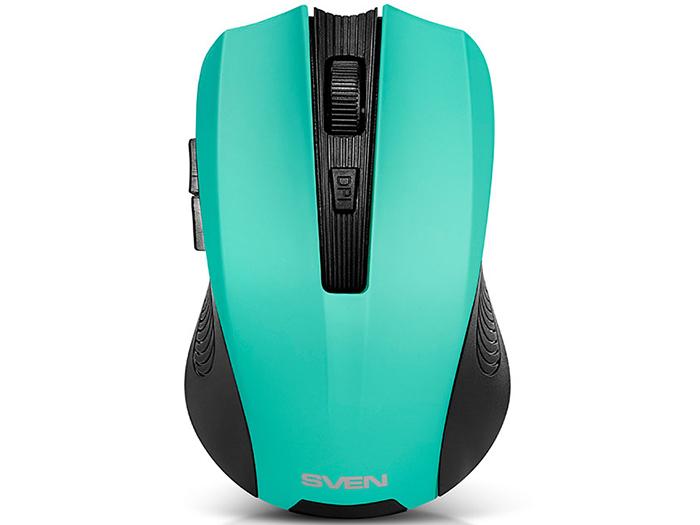все цены на Мышь беспроводная Sven RX-345 чёрный USB + радиоканал SV-014193 онлайн