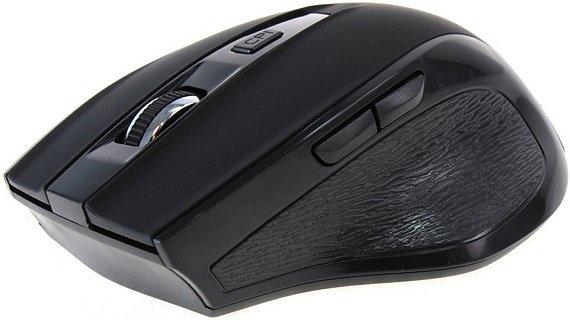 Мышь беспроводная Crown CMM-935W чёрный USB + радиоканал цена и фото