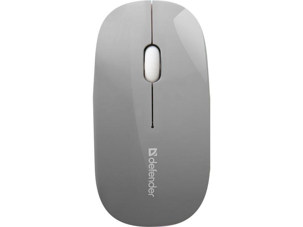Мышь беспроводная DEFENDER NetSprinter MM-545 серый белый USB defender defender netsprinter mm 545 серый usb