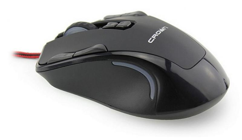 Мышь проводная Crown Gaming CMXG-804 чёрный USB мышь проводная crown cmxg 606 синий чёрный usb