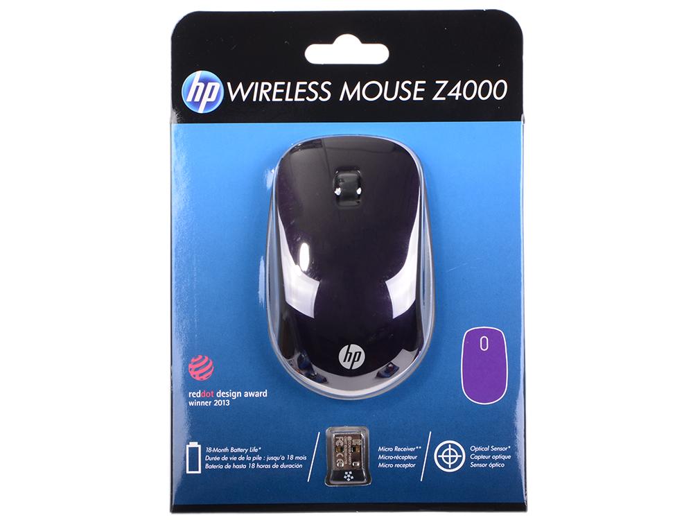 Мышь беспроводная HP Z4000 E8H26AA фиолетовый USB poa lmp114 610 344 5120 compatible projector lamps for plv z2000 z3000 z700 z4000 z800 1080hd projectors