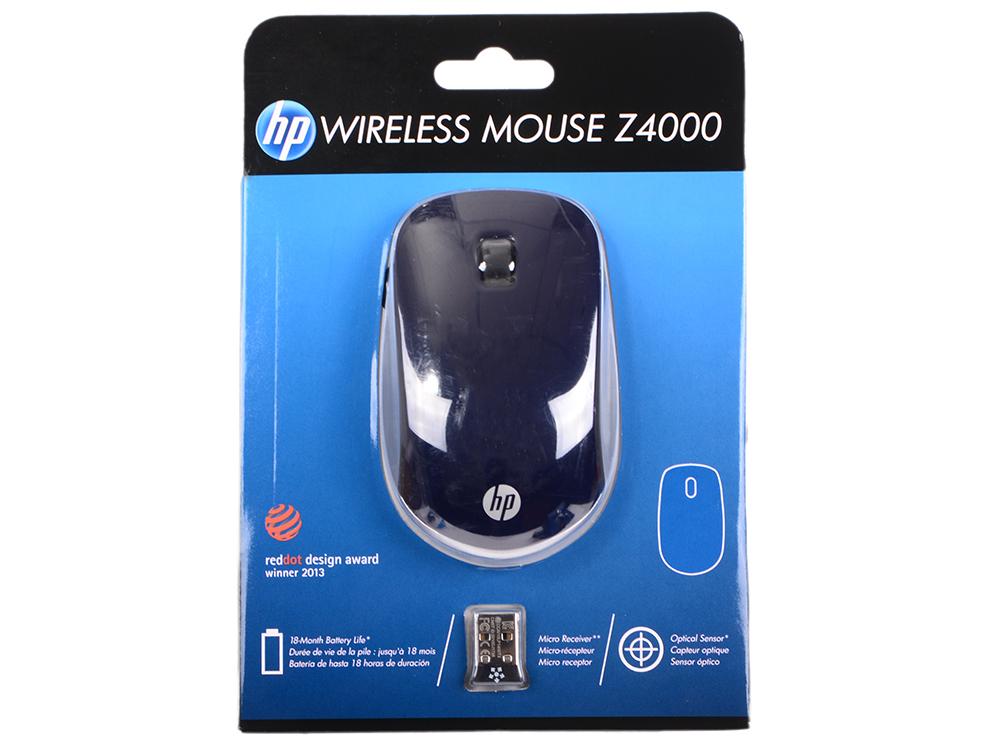 все цены на Мышь беспроводная HP Z4000 синий USB E8H25AA онлайн