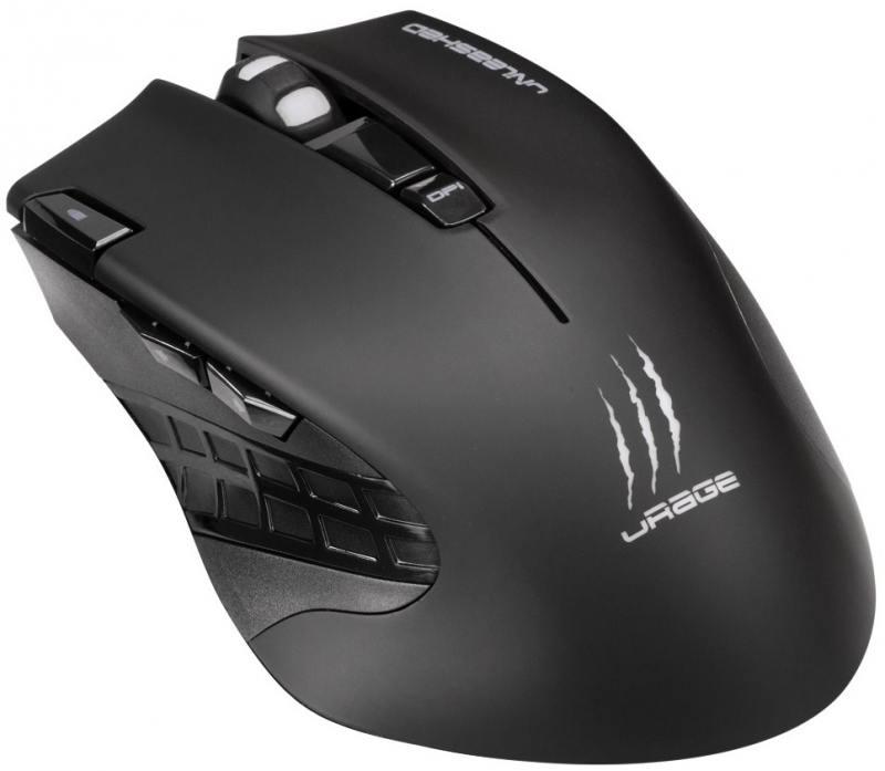 Мышь беспроводная HAMA uRage Unleashed чёрный USB 113733 мышь hama urage reaper neo black 113748
