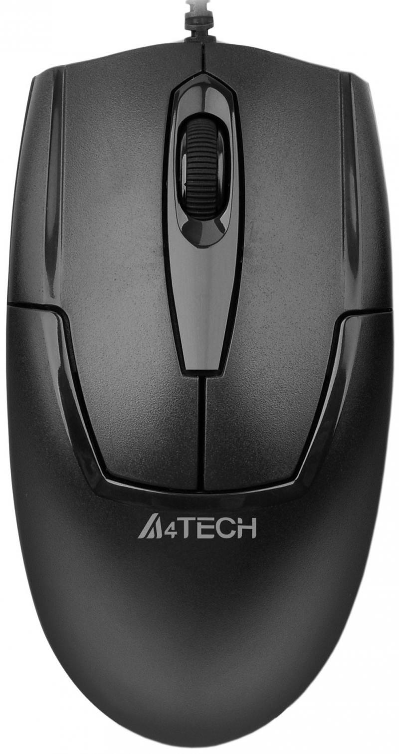 Мышь проводная A4TECH OP-540NU V-Track Padless чёрный USB мышь проводная a4tech n 600x 2 v track padless серый чёрный usb