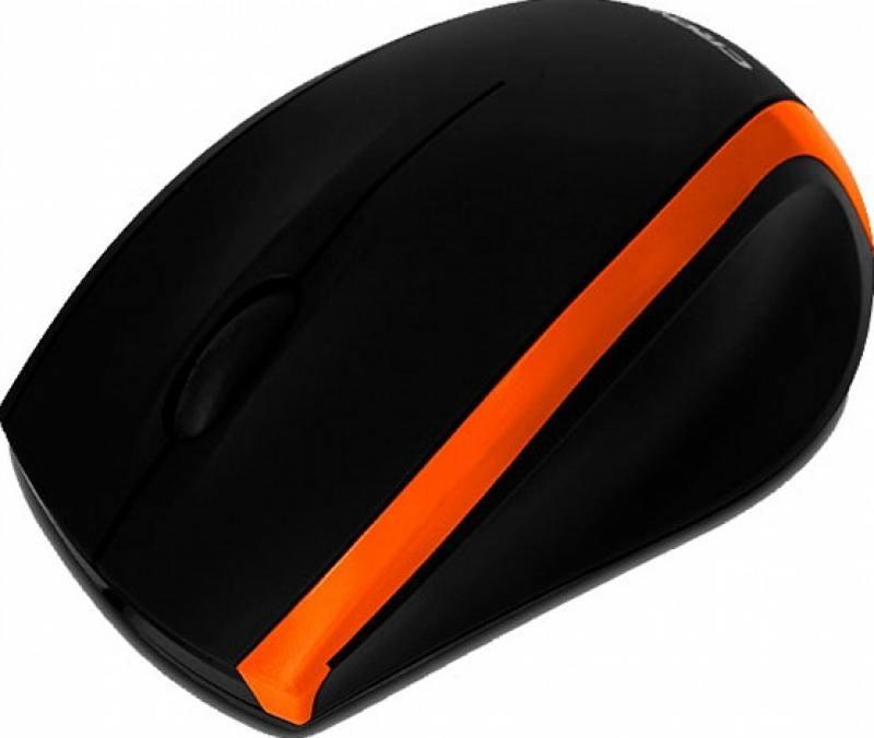 Мышь проводная Crown CMM-009 чёрный оранжевый USB мышь проводная crown cmm 016 чёрный серебристый usb