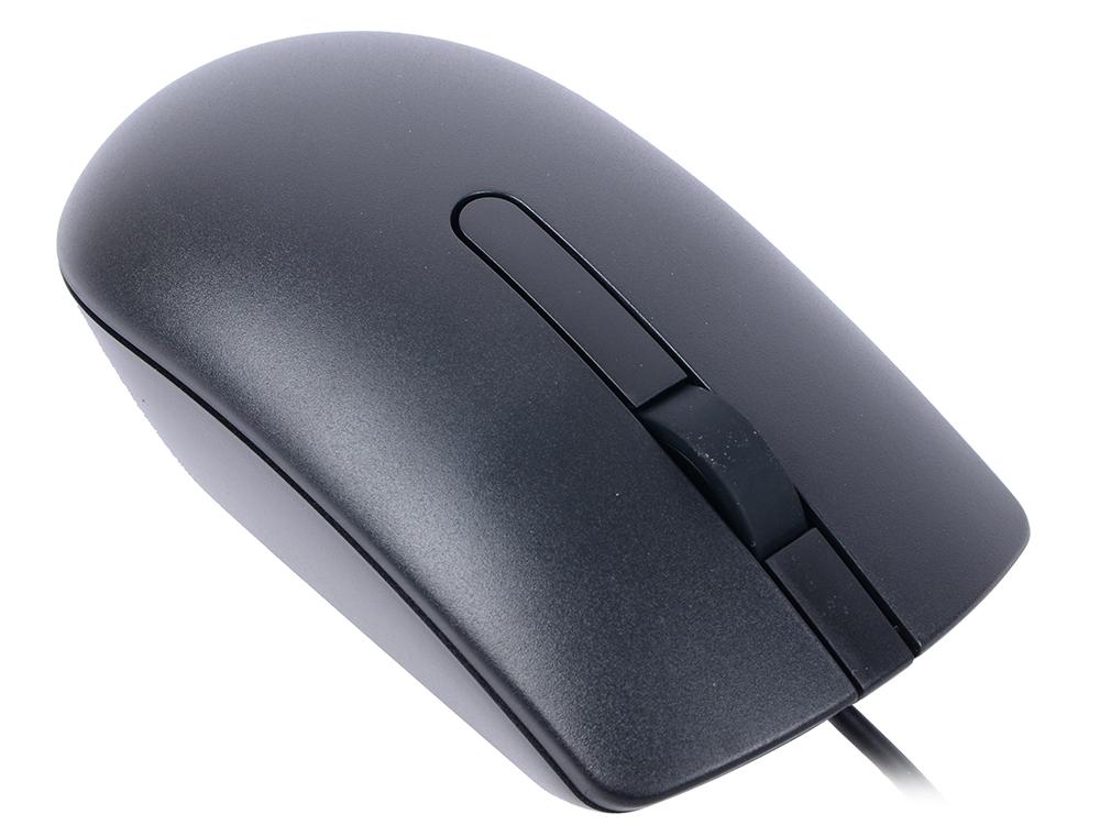 Мышь проводная DELL MS116p чёрный USB 570-AAIQ цена и фото