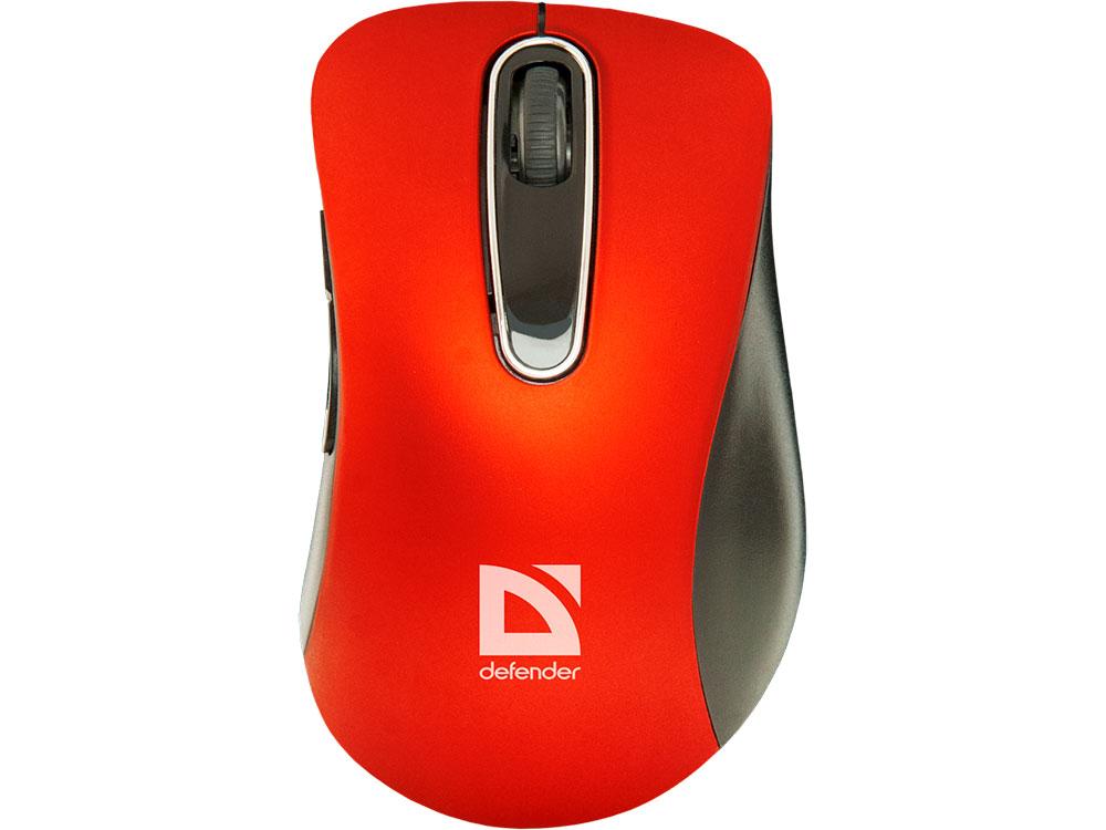Мышь беспроводная DEFENDER Datum MM-075 красный USB