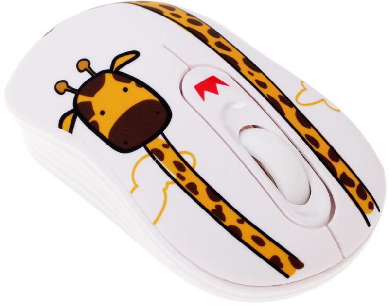 Картинка для Мышь беспроводная Crown CMM-928W giraffe белый USB