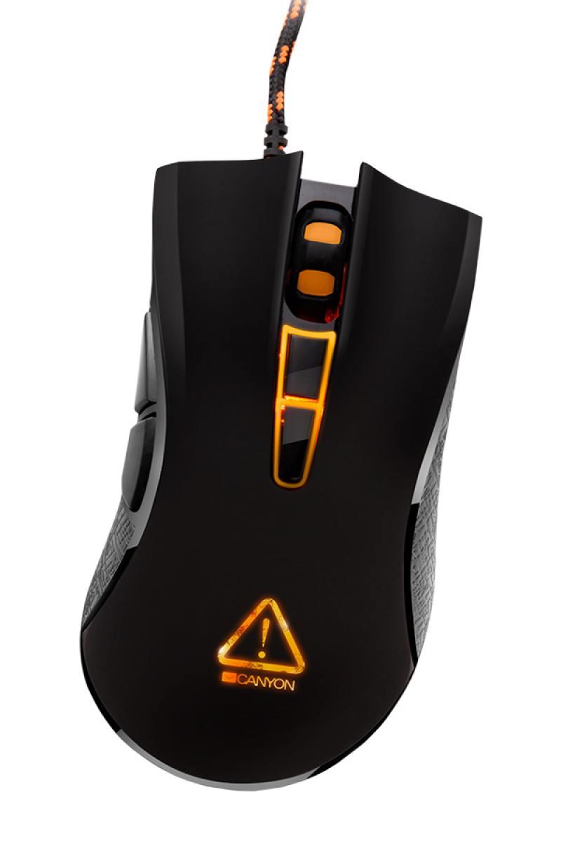 Мышь Canyon Fobos CND-SGM3 Black USB проводная, оптическая, 3500 dpi, 7 кнопок + колесо мышь проводная canyon fobos cnd sgm3 чёрный usb