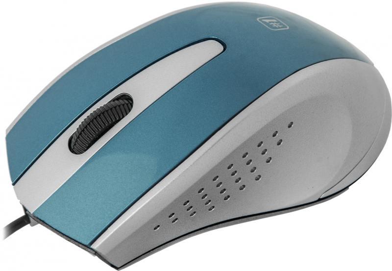 Мышь проводная DEFENDER MM-920 синий серый USB 52920