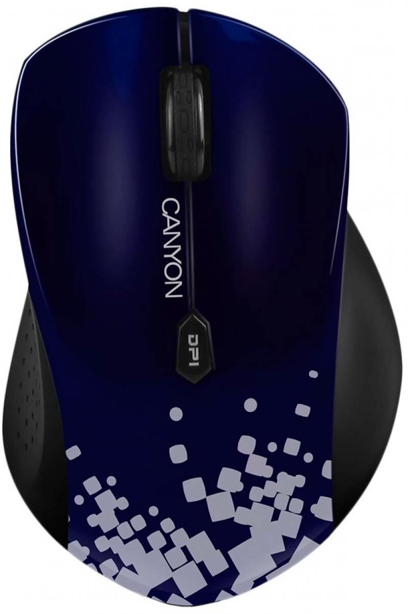 Мышь беспроводная Canyon CNS-CMSW4BL синий чёрный USB