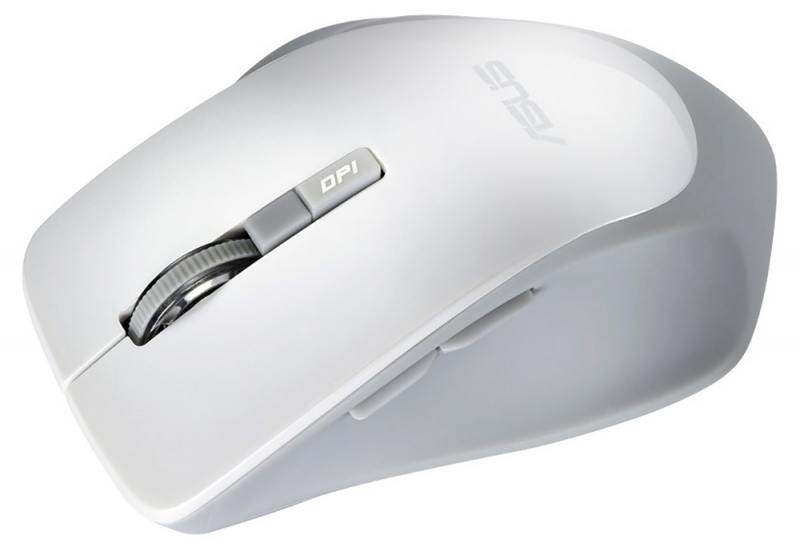 Мышь беспроводная ASUS WT425 белый USB + радиоканал 90XB0280-BMU010 мышь беспроводная asus wt425 синий usb радиоканал 90xb0280 bmu040