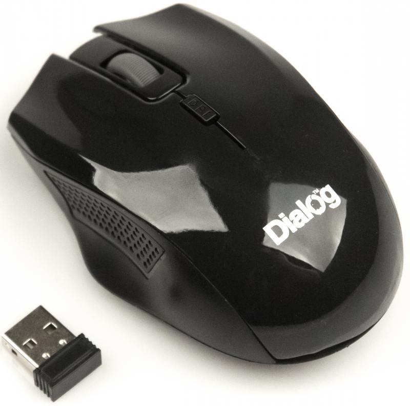 Фото - Мышь беспроводная Dialog MROP-04UB чёрный USB беспроводная bluetooth колонка edifier m33bt