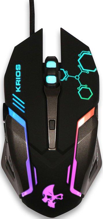 Проводная игровая мышь Jet.A KRIOS JA-GH31 (800/1200/1600/2400dpi, 6 кнопок, LED-подсветка, кабель 1.7м, USB) weyes ms 929 wired 6 key usb 2 0 800 1000 1600 2400dpi optical gaming mouse black yellow