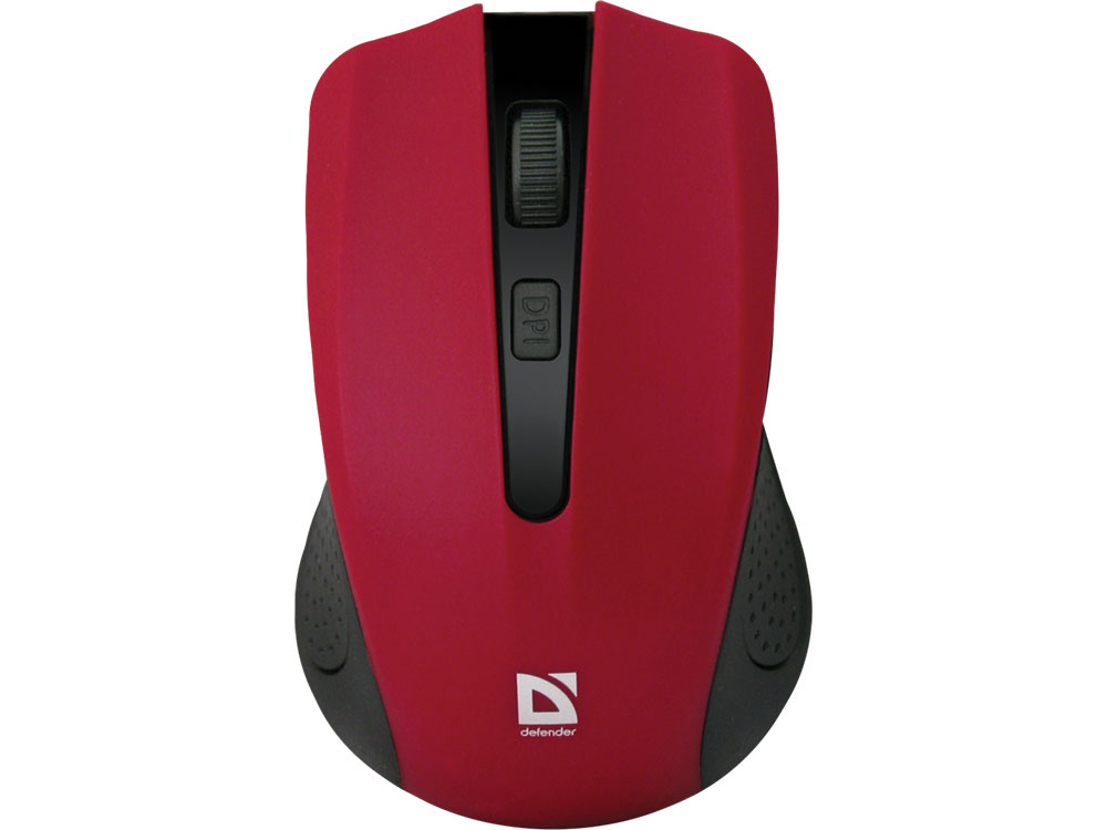 Беспроводная оптическая мышь Defender Accura MM-935 красный,4 кнопки,800-1600 dpi