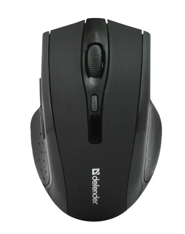 Мышь беспроводная Defender Accura MM-665 Black USB оптическая, 1600 dpi, 5 кнопок + колесо baodi g20 1200 1600 2400 dpi usb wired optical game mouse w colorful light black