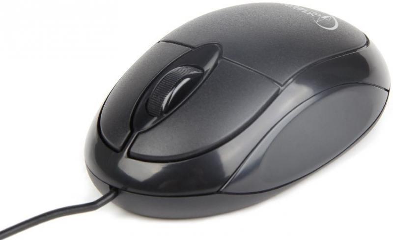 Мышь проводная Gembird MUS-U-001 чёрный USB мышь проводная gembird musopti8 809u чёрный красный usb