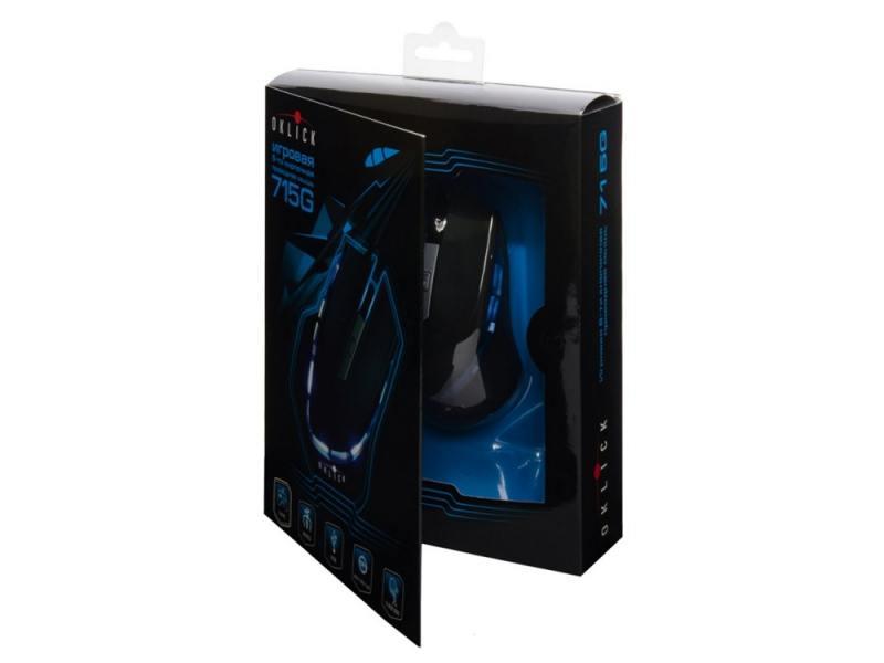 Мышь проводная Oklick 715G Wired Gaming Mouse чёрный USB мышь проводная trust centa mini mouse black usb 14656