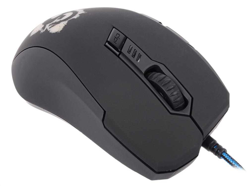 Мышь проводная Oklick DRAGON чёрный синий USB мышь oklick 725g dragon