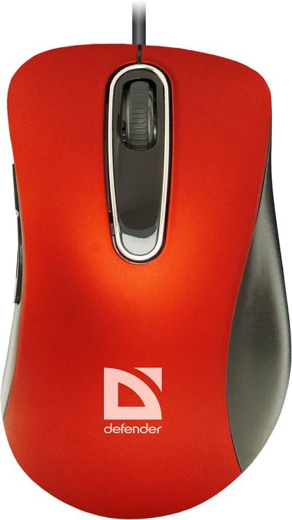 цены на Мышь проводная DEFENDER Datum MM-070 красный USB в интернет-магазинах