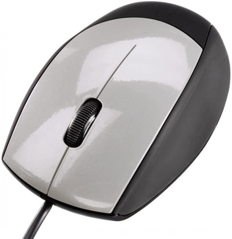 Картинка для Мышь проводная HAMA M360 H-52388 серебристый чёрный USB