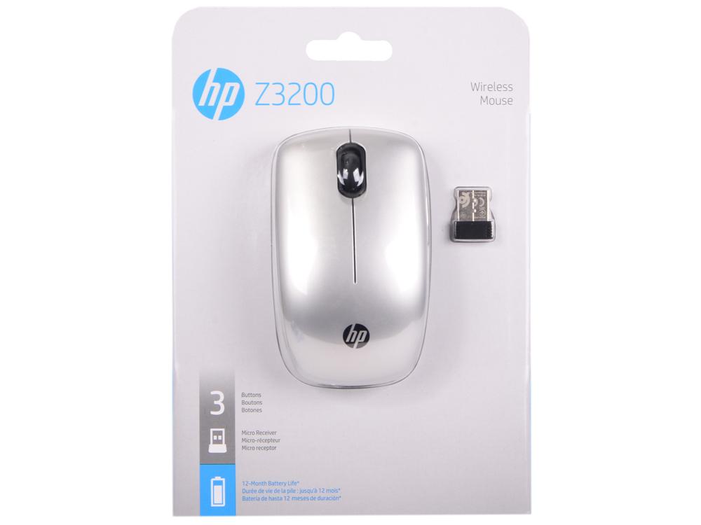 все цены на  Мышь беспроводная HP Z3200 серебристый USB [N4G84AA]  онлайн
