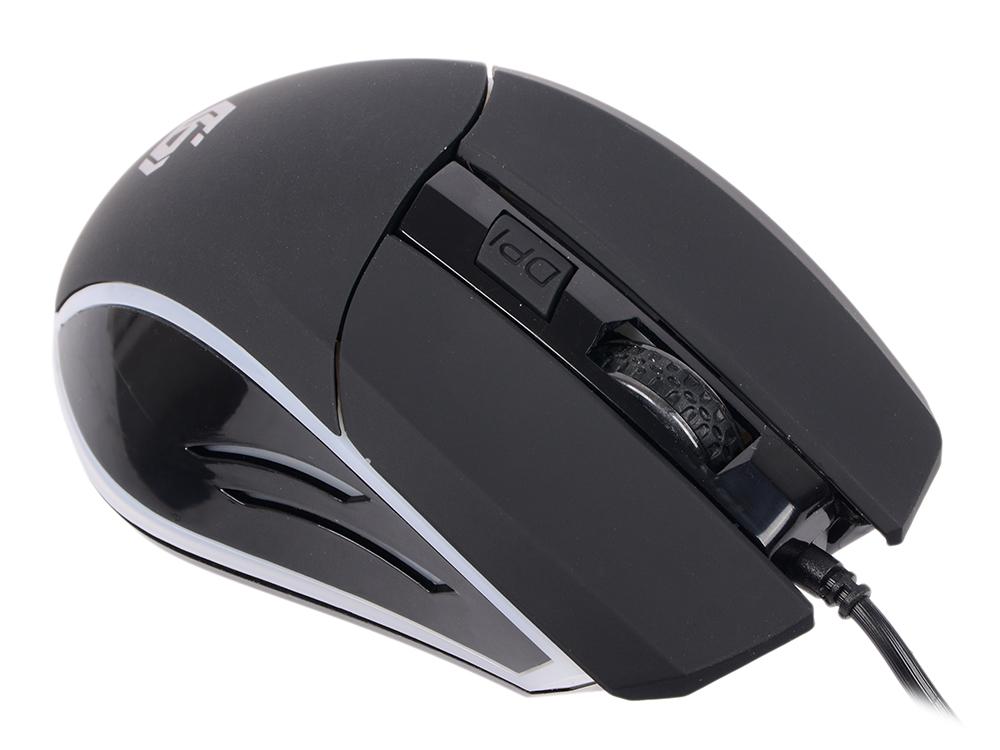 Мышь Gembird MG-500 Black USB проводная, оптическая, 1600 dpi, 6 кнопок + колесо мышь a4tech bloody n50 neon black usb проводная оптическая 2000 dpi 7 кнопок колесо
