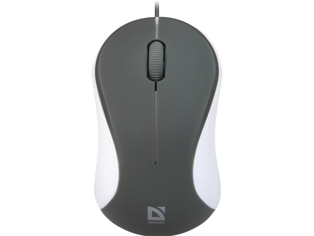 Проводная оптическая мышь Defender Accura MS-970 серый+белый,3 кнопки,1000 dpi