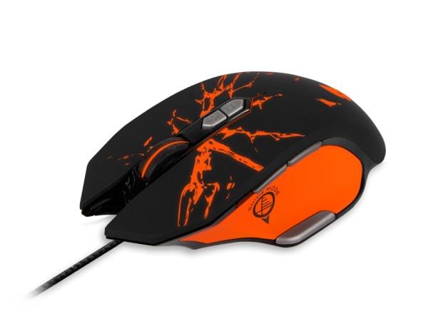 Проводная игровая мышь Jet.A GERYON JA-GH21 чёрно-оранжевая (500-4000dpi, 8 программ. кнопок + кнопка перекл. профилей + запись макросов,