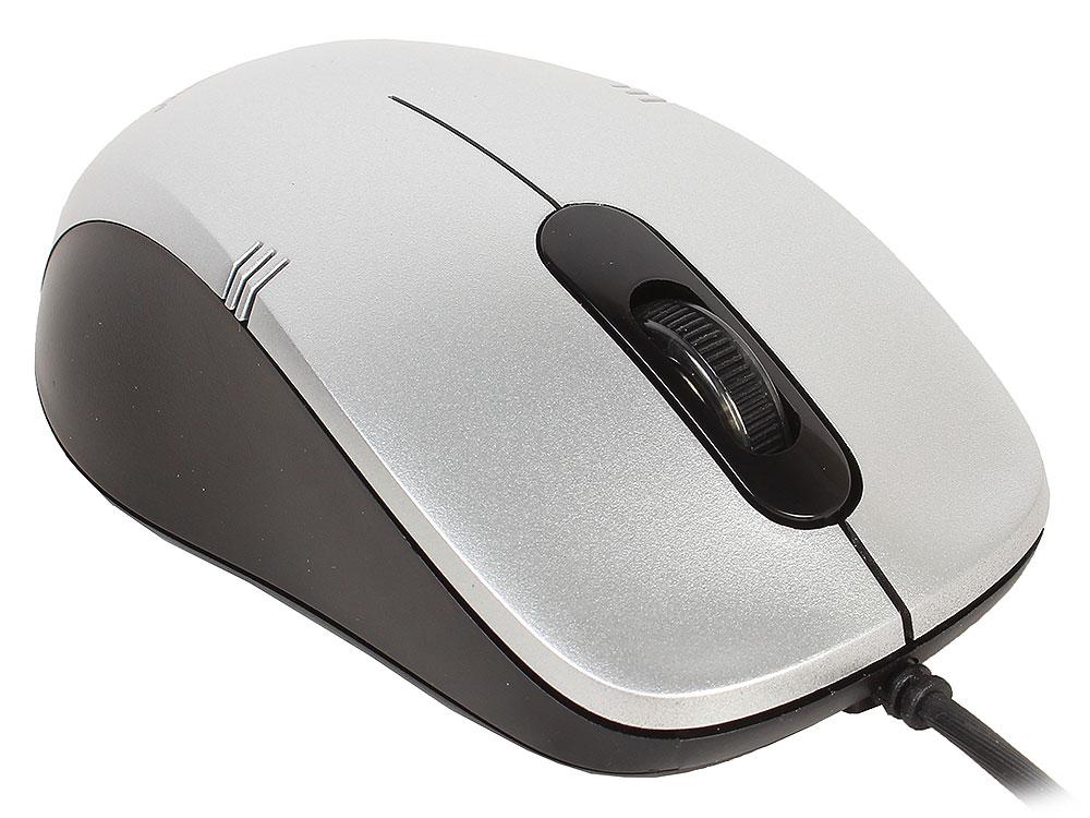 Мышь Gembird MOP-100-S Silver Black USB проводная, оптическая, 1000 dpi, 3 кнопки + колесо