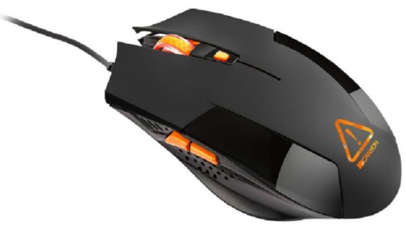 Мышь проводная CANYON Optical gaming, adjustable DPI setting 800/1200/1600/2400, LED backlight, чёрный USB CND-SGM2