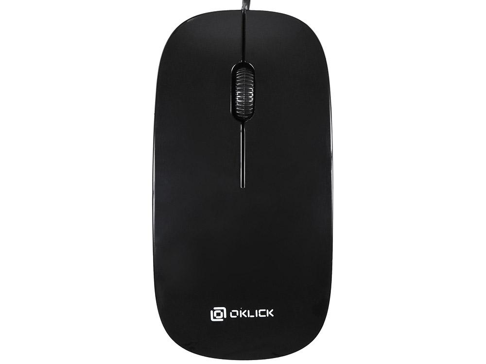 Мышь проводная Oklick 265M чёрный USB