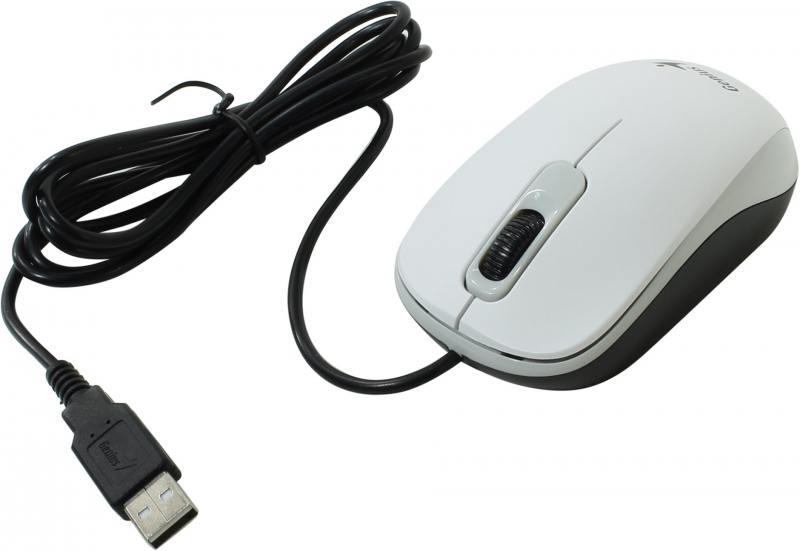 лучшая цена Мышь проводная Genius DX-120 белый USB