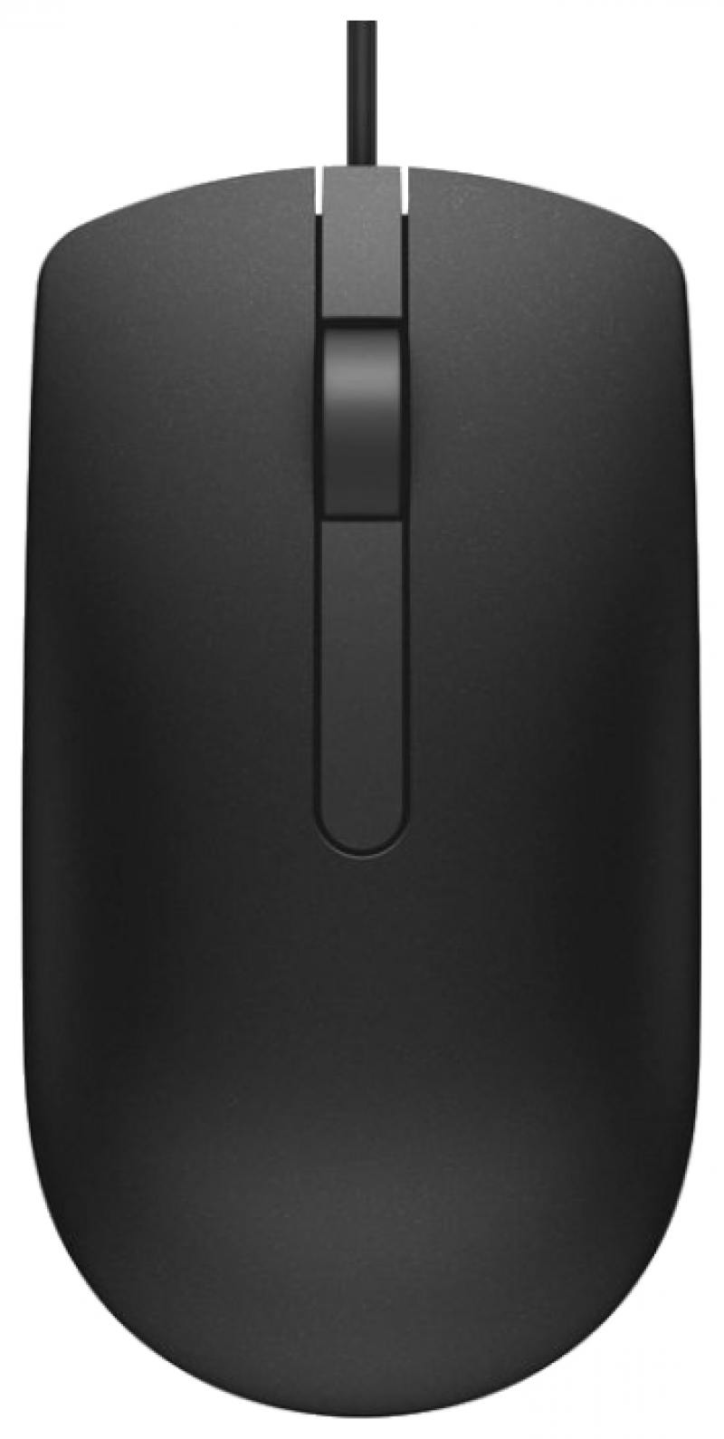 Мышь DELL MS116 Black USB проводная, оптическая, 1000 dpi, 2 кнопок + колесо мышь a4tech bloody n50 neon black usb проводная оптическая 2000 dpi 7 кнопок колесо