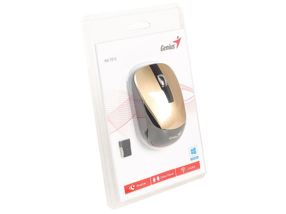 Мышь беспроводная Genius  NX-7015 Gold USB genius hs 300a silver